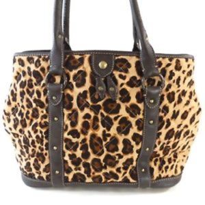 J.CREW 🐆 Leopard Purse, Quilted Canvas